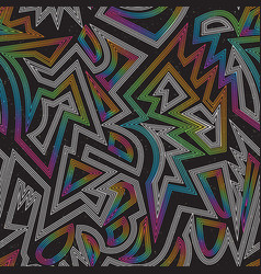 music rainbow geometric seamless pattern vector image
