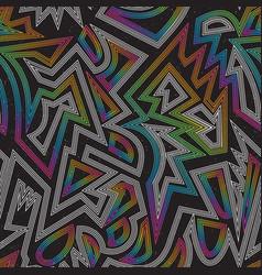 music rainbow geometric seamless pattern vector image