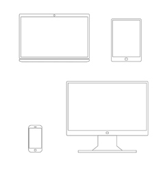 Outline gadgets icon vector image