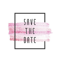 peach paint save the date vector image