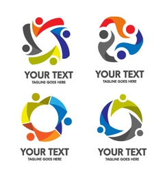 People community logo vector