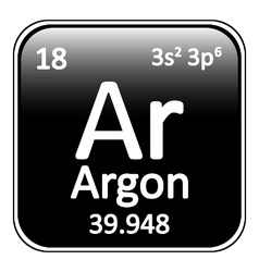 Periodic table element neon icon vector