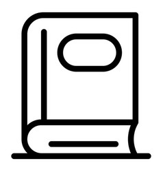 Phonebook icon outline style vector