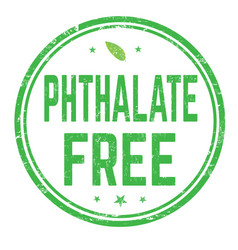 phthalate free sign or stamp vector image