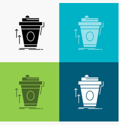Product promo coffee cup brand marketing icon vector
