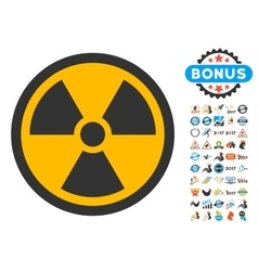 Radioactive Icon with 2017 Year Bonus Symbols vector image