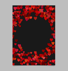 red random heart page background design - love vector image