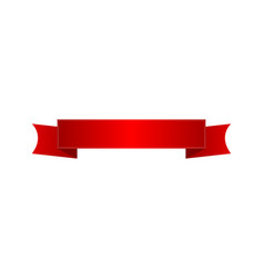 red shiny silk ribbon isolated icon vector image