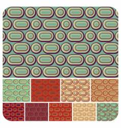 seamless retro pattern set of vector image vector image