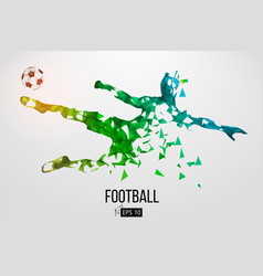Silhouette of a football player from particles vector