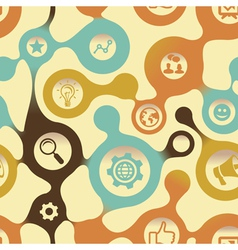 social media pattern with intenet icons vector image