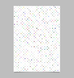 Star pattern brochure template - cover background vector