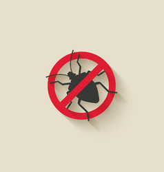Stink bug silhouette pest icon stop sign vector