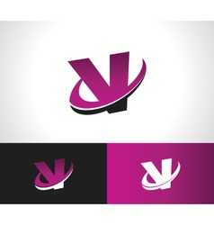 Swoosh Alphabet Icon V vector