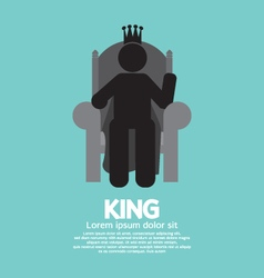The king with his throne vector
