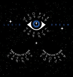 Third eye on space background vector
