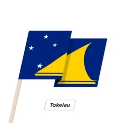 Tokelau Ribbon Waving Flag Isolated on White vector image