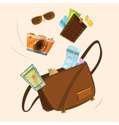 Tourist bag concept vector