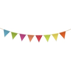 Triangle Papers Flags on White Background vector