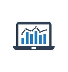Web analytics icon vector