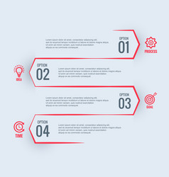 white business infographic design vector image
