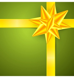 Green Gold Abstract Merry Christmas Background vector image vector image