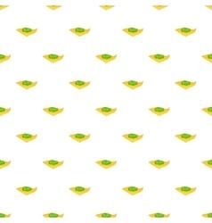 Marijuana on a paper pattern cartoon style vector image vector image