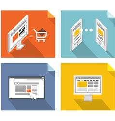 Modern technology concepts Design elements vector image vector image