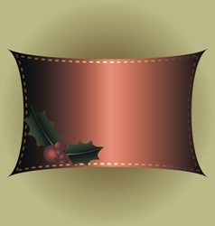 Red frame for christmas and new year vector image vector image