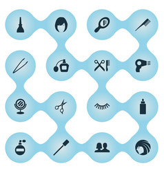 set of simple spa icons vector image
