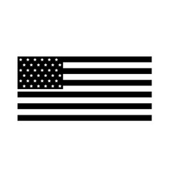 American flag icon vector
