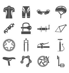 bike icons vector image
