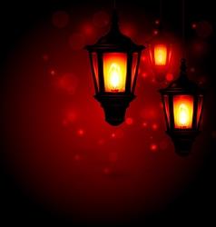 Lantern - Ramadan Kareem greeting background vector image vector image