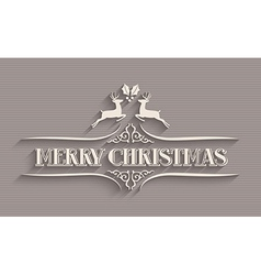 Merry Christmas typographic postcard vector image