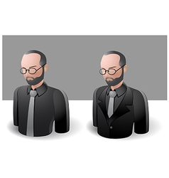 People icons men vector