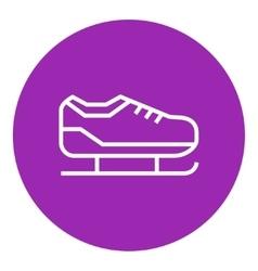 Skate line icon vector image