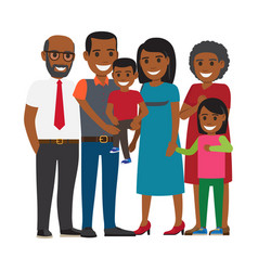 tree generations of family together flat vector image vector image