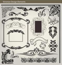 Victorian Elements1 vector image vector image