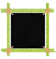 bamboo asian frame vector image