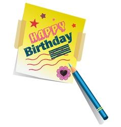 Birthday Memo vector image vector image