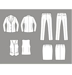 Business suit vector image vector image
