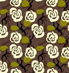 Floral seamless pattern background with roses and vector image