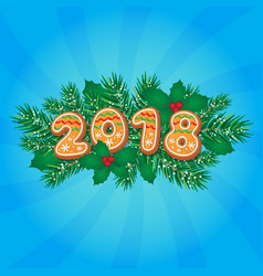 2018 christmas new year greeting card design vector