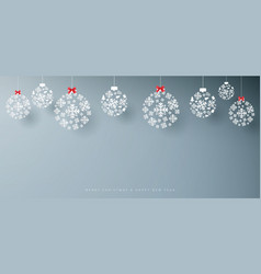 abstract white snowflakes on grey background vector image