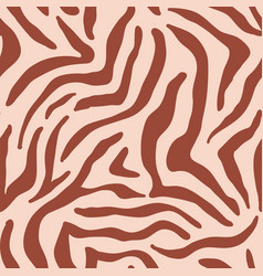 animal zebra skin texture seamless pattern vector image