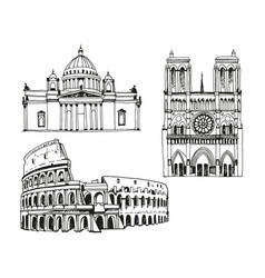 Attractions world saint isaacs cathedral vector