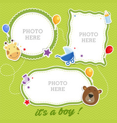 baby photo frames template vector image