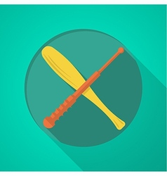 Baton flat color icon vector image