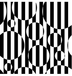 Black and white striped circles vector