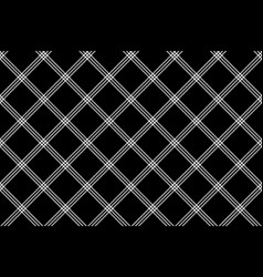 Black white check fabric texture simple seamless vector